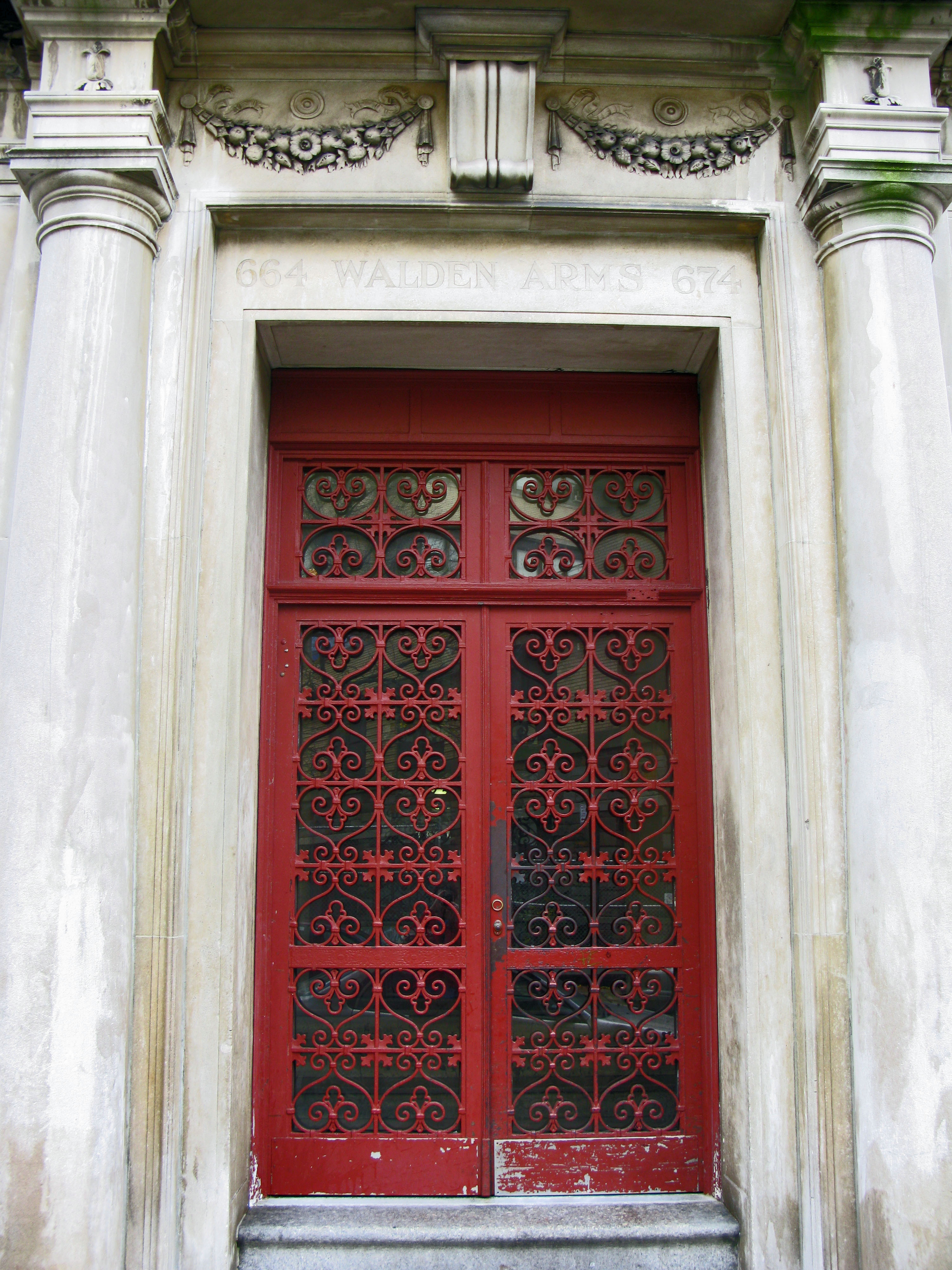 On Detail of the Day: A Vintage Red Door in Washington Heights ...