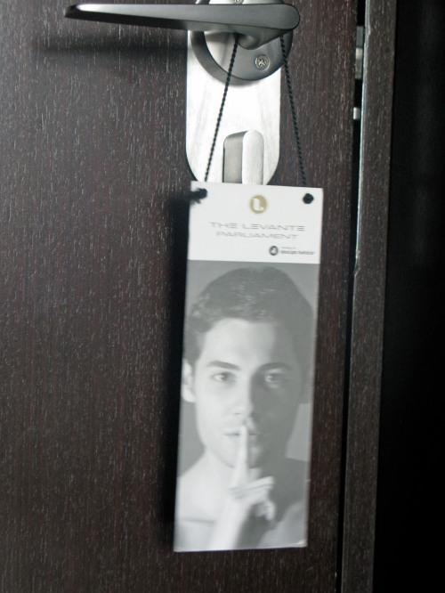 On Hot Gay Do-Not-Disturb Signs: Vienna Hotel Not Shy. 10Jan09